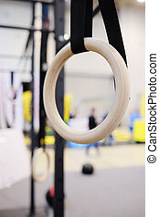 gymnastic ring - Closeup gymnastic ring
