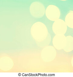 Defocused Bokeh twinkling lights Vintage background...