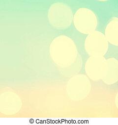 Defocused Bokeh twinkling lights Vintage background....