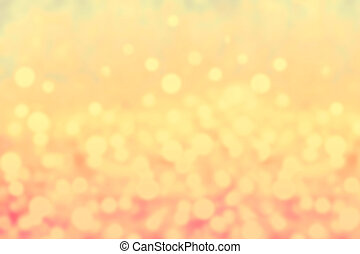 Glittery lights golden abstract Christmas background....