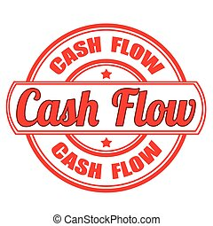 cash flow stamp - label stamp with text cash flow on vector...
