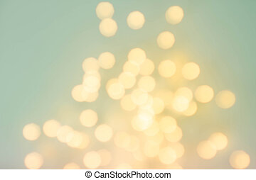 Abstract de focused lights bokeh background with glowing...