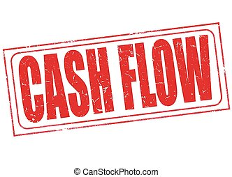 cash flow stamp - grunge stamp with text cash flow on vector...