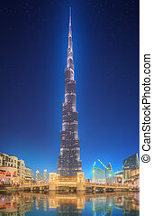 Burj Khalifa in Dubai, UAE. Burj Khalifa is a tallest...