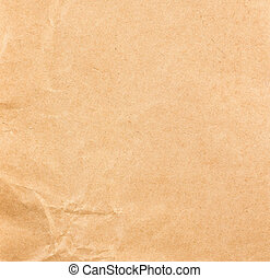 Old Crumpled recycled paper texture or background. - High...