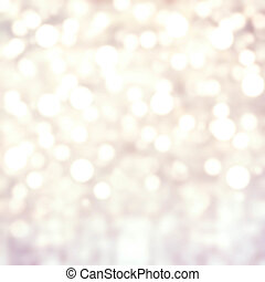 Grey Lights Festive background Abstract Christmas twinkled...