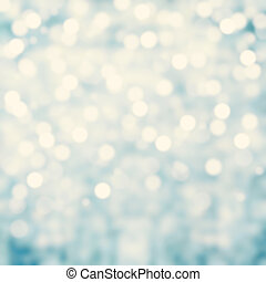Blue Lights Festive background Abstract Christmas twinkled...