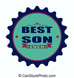 best son ever stamp - label stamp with text best son ever on...