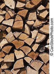 duro, y, suave, mezcla, Choping, madera, Plano de fondo,...