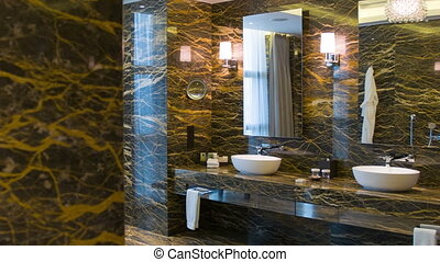 Luxury bathroom in natural colors - Luxury bathroom....