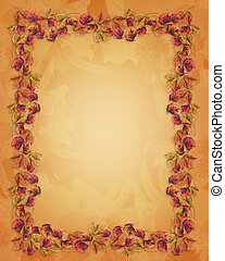 Autumn fall leaves Border - Image and Illustration...