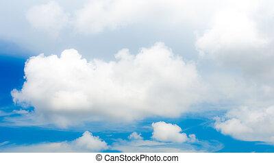 agradable, luz, cielo, con, nube, , blue, cielo,