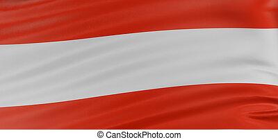 3D Austrian flag