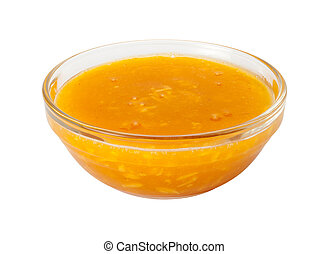 Mango Coconut Marinadein in a Glass Bowl