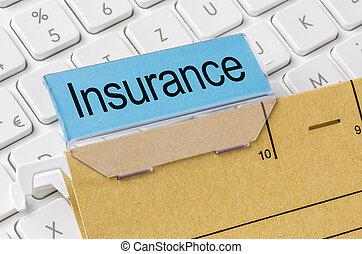 brun, märkt, mapp, fil, försäkring