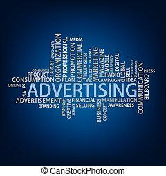 Advertising Tag Cloud, vector