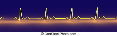 EKG Lines - 3D Illustration