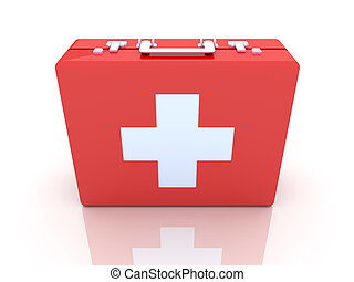 First aid case - 3D rendered Illustration