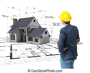 Architect envisioning his project