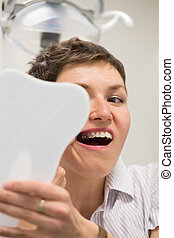 Getting braces on teeth - Getting braces in the orthodontics...