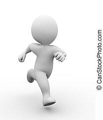 3d running man - 3d illustration of man running. 3d...