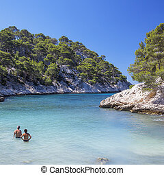 The famous Calanques national park of Cassis, France.