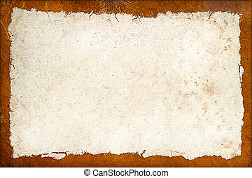 vintage grunge background with rusty metal frame