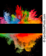 polvo, negro,  explosión, coloreado, Plano de fondo
