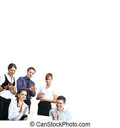 negócio, jovem, escritório, pessoas