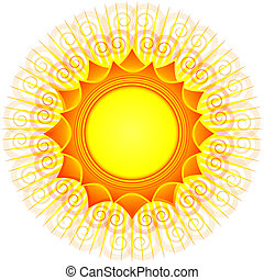 Decorative sun vector