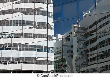 Glass facade - Glass facade of the Anton Phillips Hall in...