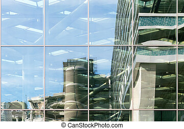 Glass facade - Glass facade of the Central Station in The...