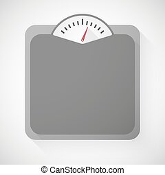 Weight scale - Illustration of a grey weight scale icon