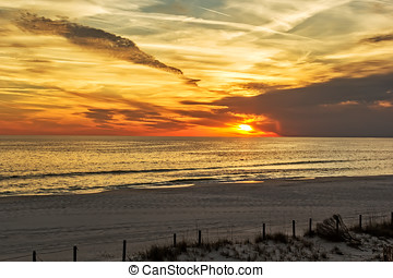 Panama City - Beautiful sunset in Panama City, Florida over...