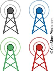 Signal Wifi Tower Colors