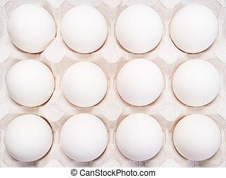 Viele, Eier, behälter