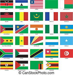 african flags 2 - 29 African Flags 2 Vector Illustration of...
