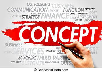 CONCEPT word cloud, business concept