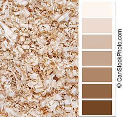 Flatteur, Diagramme, carte, beige, couleur,