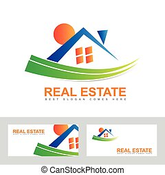 Real estate house abstract logo