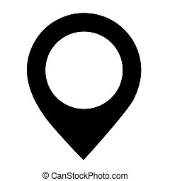 Vector black location icon on white background. - vector...