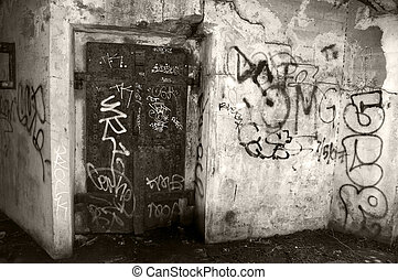 capture of a scary dirty city underpass - photo capture of a...