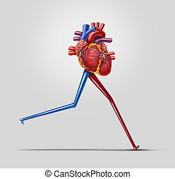Heart Fitness - Heart fitness concept as a human...