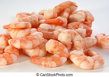 some fresh organic prawns ready to eat