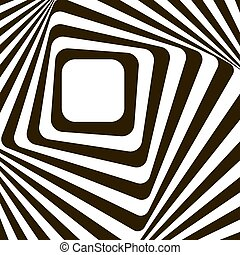 Abstract lines distortion effect. Black and white - Black...
