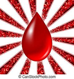 sangre, donación, símbolo,