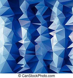 vector polygonal background pattern - triangular design in cold ice blue colors