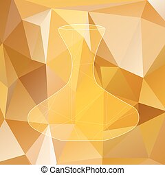 decanter silhouette polygon.eps