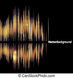 Abstract background-shiny sound waveform. Vector...