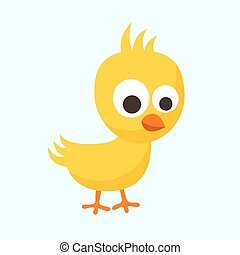 Small Chick - Small yellow chick in flat design style